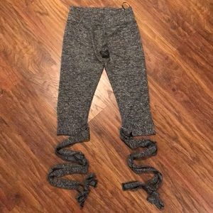 Leggings with Wrap-tie detailing at calf and ankle
